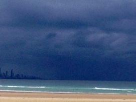 Surfers, sky, EC low